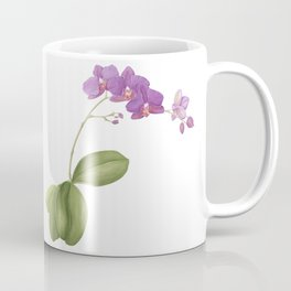 Flowering purple phalaenopsis orchid Coffee Mug