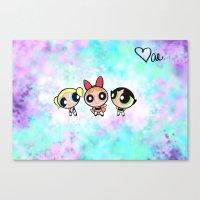 powerpuff girls Canvas Prints featuring Powerpuff Girls by Mind of Bae