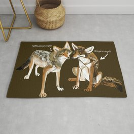 Coyotes in love Rug