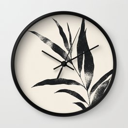 Olive Branch 02 - Ink & Ivory Wall Clock
