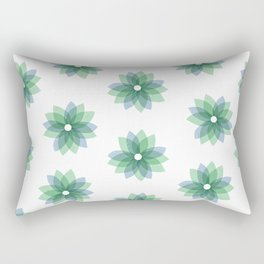 Geo Spring Flowers 01 Rectangular Pillow