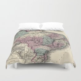 Colton's Brazil with Guayana - 1871 Duvet Cover