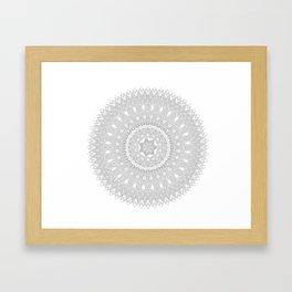 Black and White Feather Mandala Boho Hippie Framed Art Print