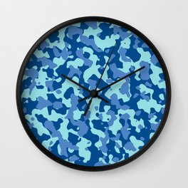 Camouflage Island Marina Wall Clock