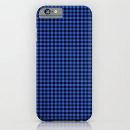 Mini Black and Royal Blue Cowboy Buffalo Check iPhone Case