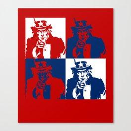 Pop Art Uncle Sam Canvas Print