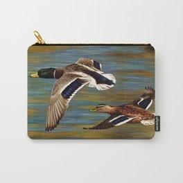 Mallard Ducks in Flight Carry-All Pouch
