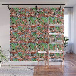 Flamingo Party Wall Mural