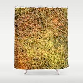 Gold square Shower Curtain