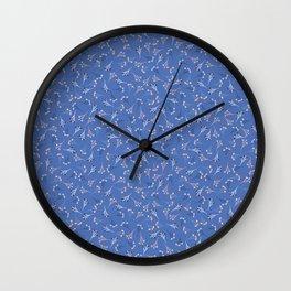 Ditsy Flower Pattern Seamless Wall Clock