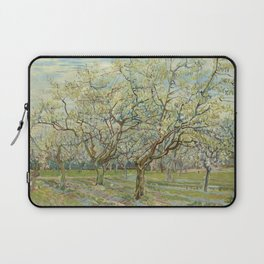 """Vincent van Gogh """"The White Orchard"""" Laptop Sleeve"""