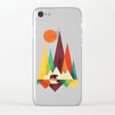 Bear In Whimsical Wild Clear iPhone Case