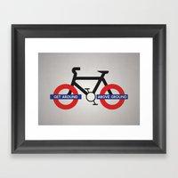 Get Around Above Ground Framed Art Print