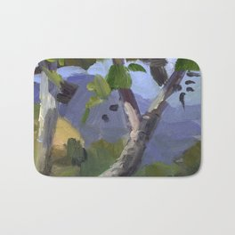 BETTE DAVIS PARK, plein air landscape by Frank-Joseph Paints Bath Mat