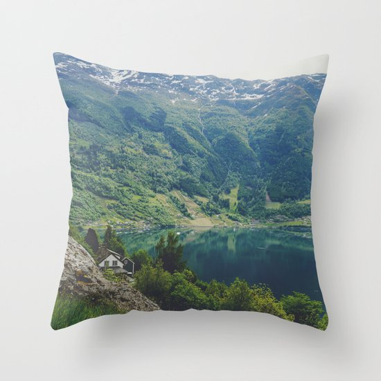 alone up north Throw Pillow