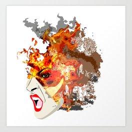 Fire- from World Elements Series Art Print