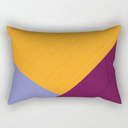 Geometric Crossing Rectangular Pillow
