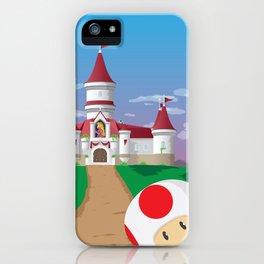 Peach's Castle (Super Mario) Travel Poster iPhone Case