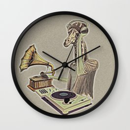 Retro DJ Wall Clock