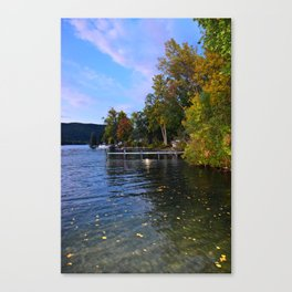 Autumn Arrives at the Lake Canvas Print