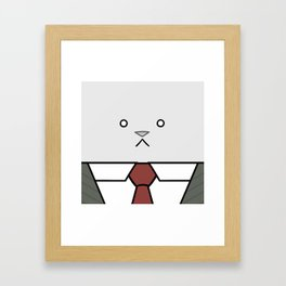 Business Cat Cube Framed Art Print
