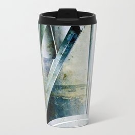 The Bars Within Abstract Metal Seascape Travel Mug