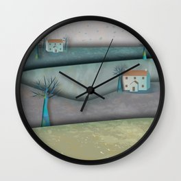 New Lands Cottages Wall Clock