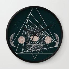 Moon Matrix Wall Clock