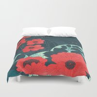 ruby Duvet Covers featuring Ruby by Tracie Andrews