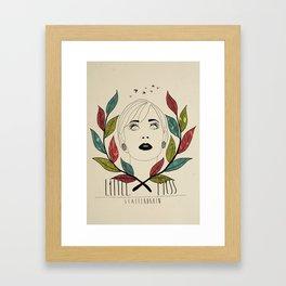 Little Miss Scatterbrain Framed Art Print
