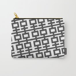 Grey Double Happines Carry-All Pouch