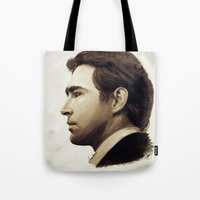 lee pace Tote Bags featuring Lee Pace by LindaMarieAnson
