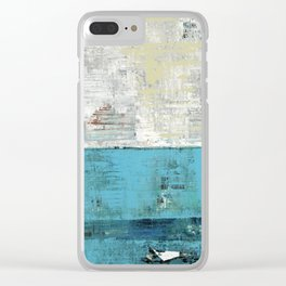 Fairbanks Abstract Light Blue White Clear iPhone Case