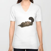 platypus V-neck T-shirts featuring Grumpy Platypus by The Art of Nicole