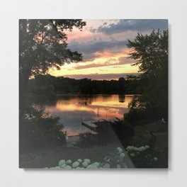 Lake Life - July Sunset Metal Print