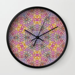 Mandala of love Wall Clock
