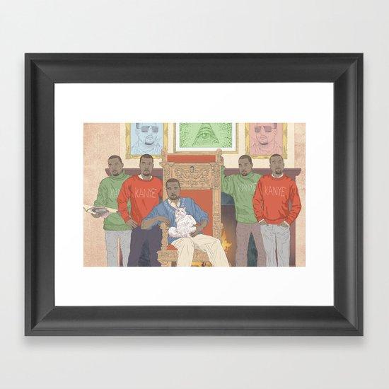 Five Kanyes Framed Art Print