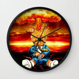 Trump bomb Wall Clock