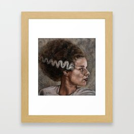 Elsa Lancester is 'The Bride of Frankenstein' Framed Art Print