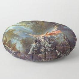 Jean-Honoré Fragonard - The Swing Floor Pillow