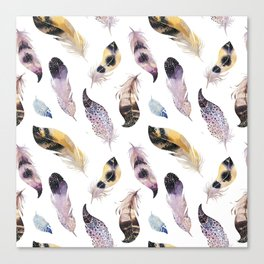 Trial feathers pattern Canvas Print