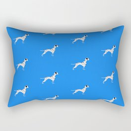 DALMATIANS ((true blue)) Rectangular Pillow