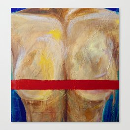 censored one: center Canvas Print