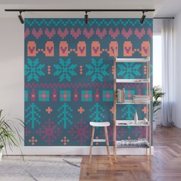 Fair Isle Christmas Wall Mural