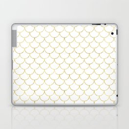 Mermaid Scales in Gold Laptop & iPad Skin