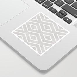 Stitch Diamond Tribal Print in Grey Sticker