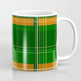 Green and Orange Plaid Coffee Mug