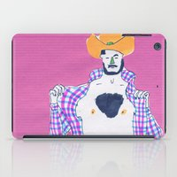 cowboy iPad Cases featuring cowboy by Maybe Mary