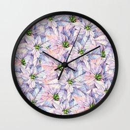 Poinsettia Petals Wall Clock