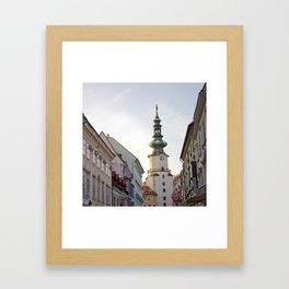 Bratislava Tower Framed Art Print